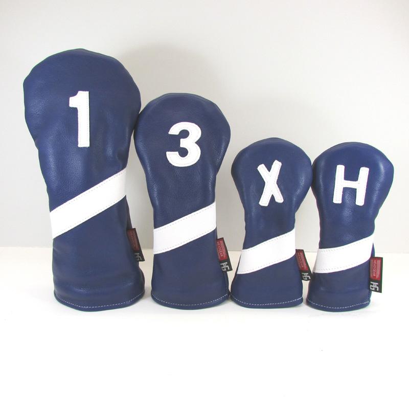 Cobalt Blue Headgear Golf Leather Headcover Headgear Golf