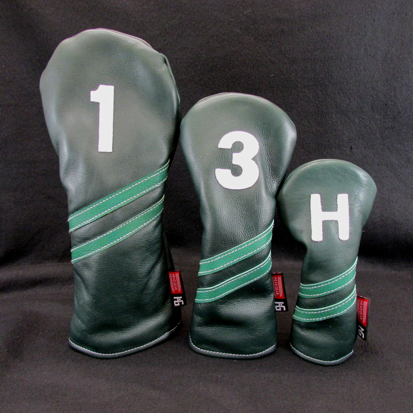 Collegiate Style Dark Forest Green Leather Headcover