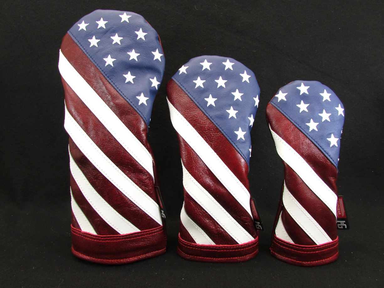 5227119d282 Handmade Stars and Stripes Leather Headcover Set ...