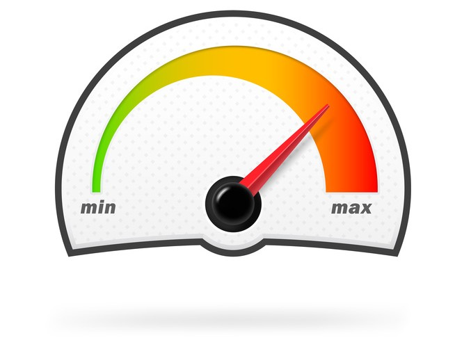 Speedometer on a white background. Vector illustration