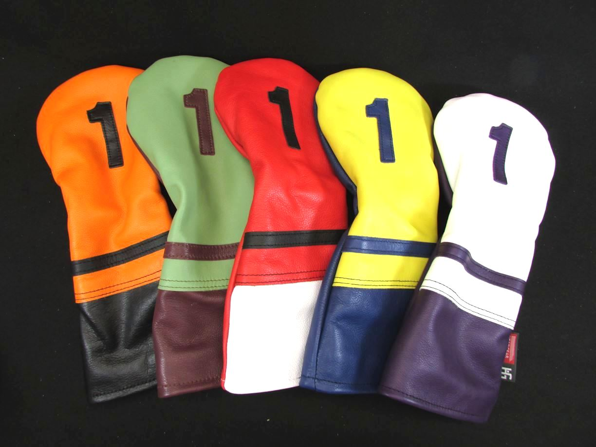 New Club Edition Dual Color Leather Headcovers All Sizes