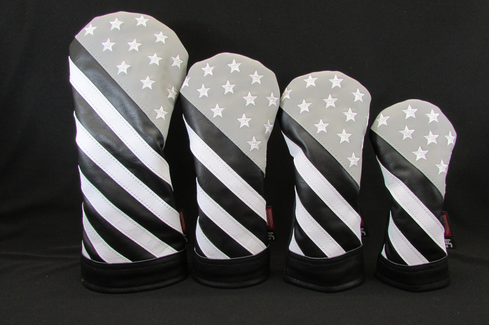 d46af3bdb47 Handmade Stars and Stripes Monochromatic Leather Headcover Set ...